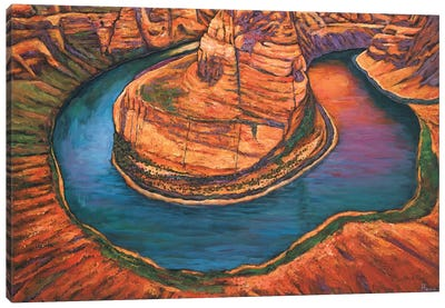 Horseshoe Bend Sunset Canvas Art Print
