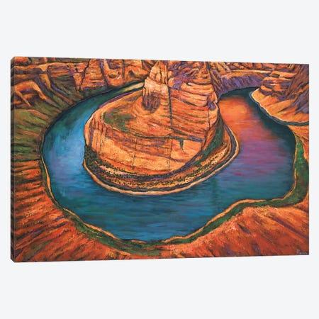 Horseshoe Bend Sunset Canvas Print #JHR37} by Johnathan Harris Art Print