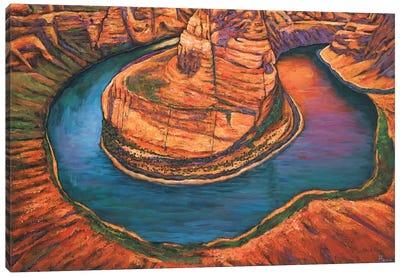 Horseshoe Bend Sunset Canvas Art Print