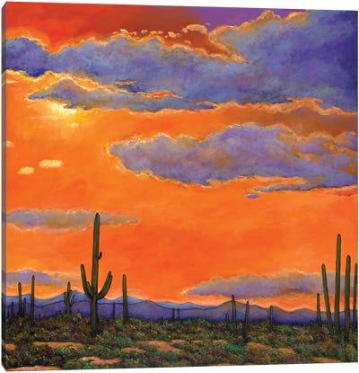 Saguaro Sunset Canvas Art Print