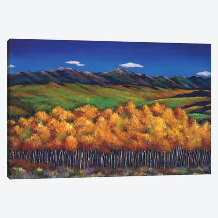 Aspen In The Wind Canvas Print #JHR5} by Johnathan Harris Canvas Print