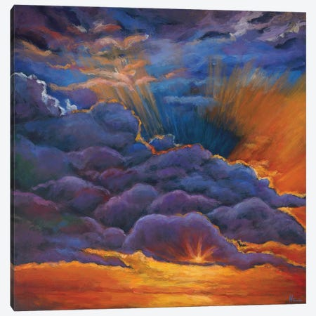 Welcome The Night Canvas Print #JHR64} by Johnathan Harris Canvas Wall Art