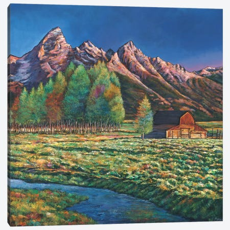 Wyoming Canvas Print #JHR68} by Johnathan Harris Art Print