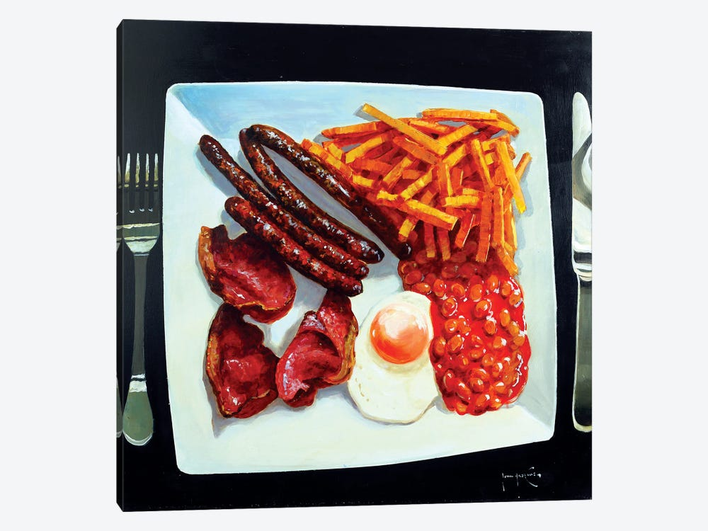 All Day Breakfast by John Haskins 1-piece Art Print
