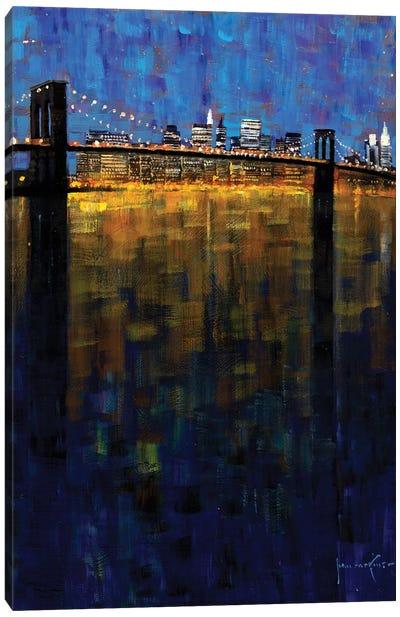 Brooklyn Bridge Nocturne Canvas Art Print