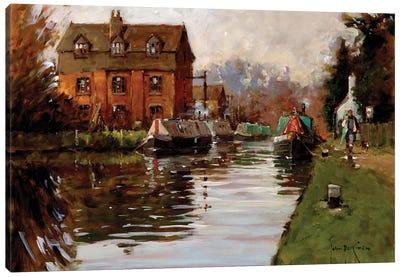 Canal Moorings Canvas Art Print