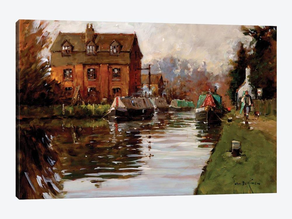 Canal Moorings by John Haskins 1-piece Art Print