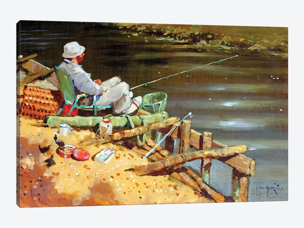 Chance Of A Bite by John Haskins 1-piece Canvas Art Print
