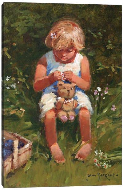 Daisy Girl Canvas Art Print