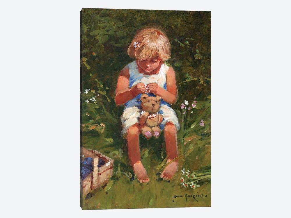 Daisy Girl by John Haskins 1-piece Canvas Art