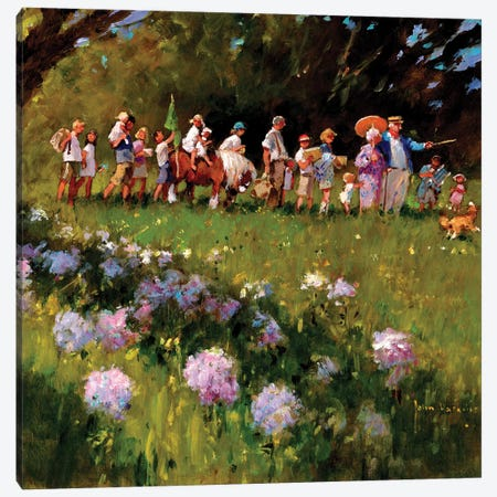 Day Of Our Picnic Canvas Print #JHS15} by John Haskins Canvas Art