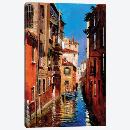 Dorsoduro Canvas Print #JHS16} by John Haskins Canvas Artwork
