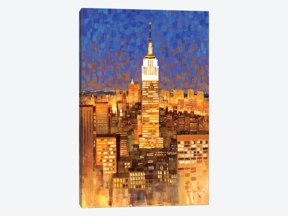 Empire State Building Skyline by John Haskins 1-piece Art Print