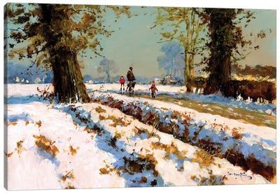 Afternoon Snow Canvas Art Print
