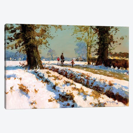 Afternoon Snow Canvas Print #JHS1} by John Haskins Canvas Art Print
