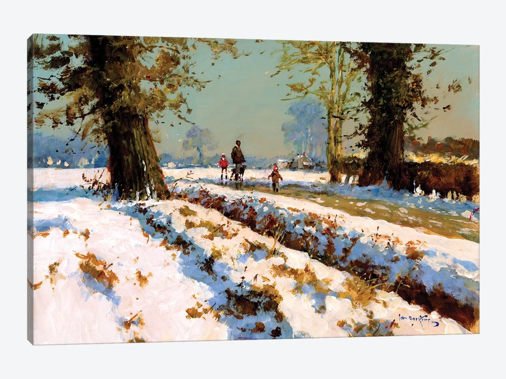Afternoon Snow by John Haskins 1-piece Canvas Art Print