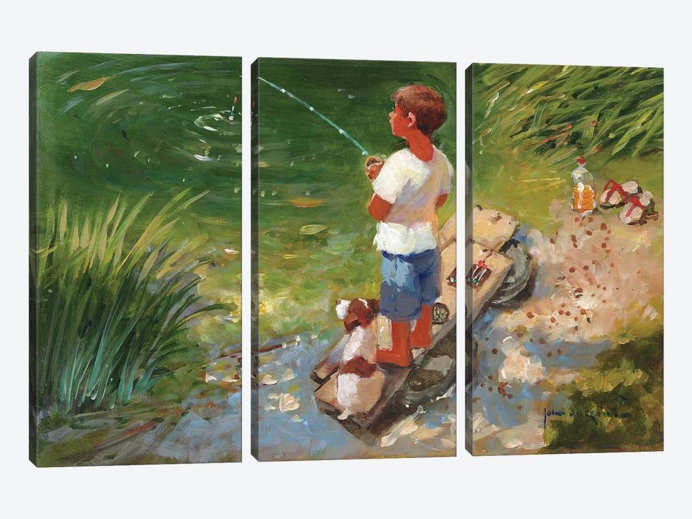 Expecting A Bite by John Haskins 3-piece Art Print