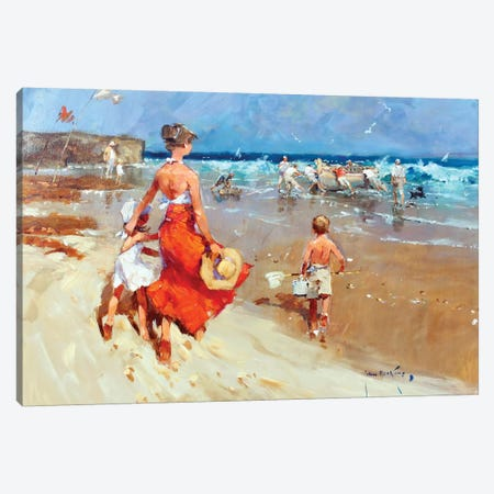 In On The Tide I Canvas Print #JHS27} by John Haskins Canvas Print