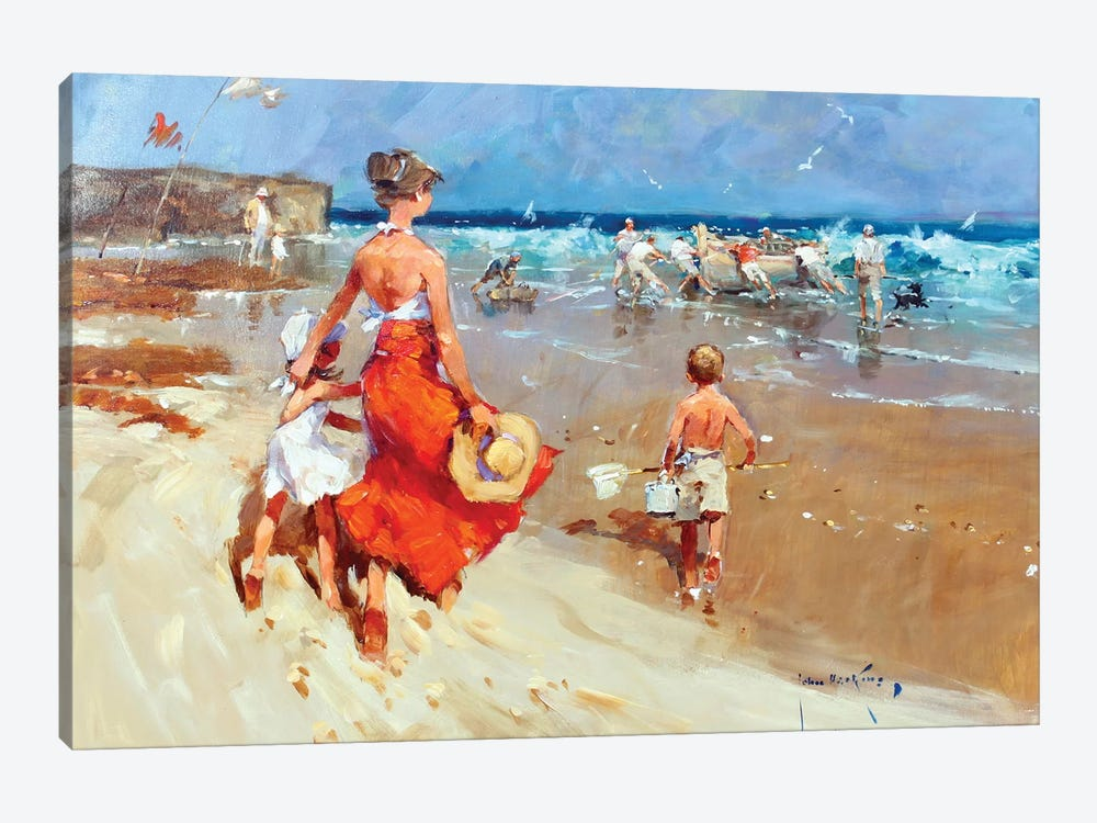 In On The Tide I by John Haskins 1-piece Canvas Wall Art