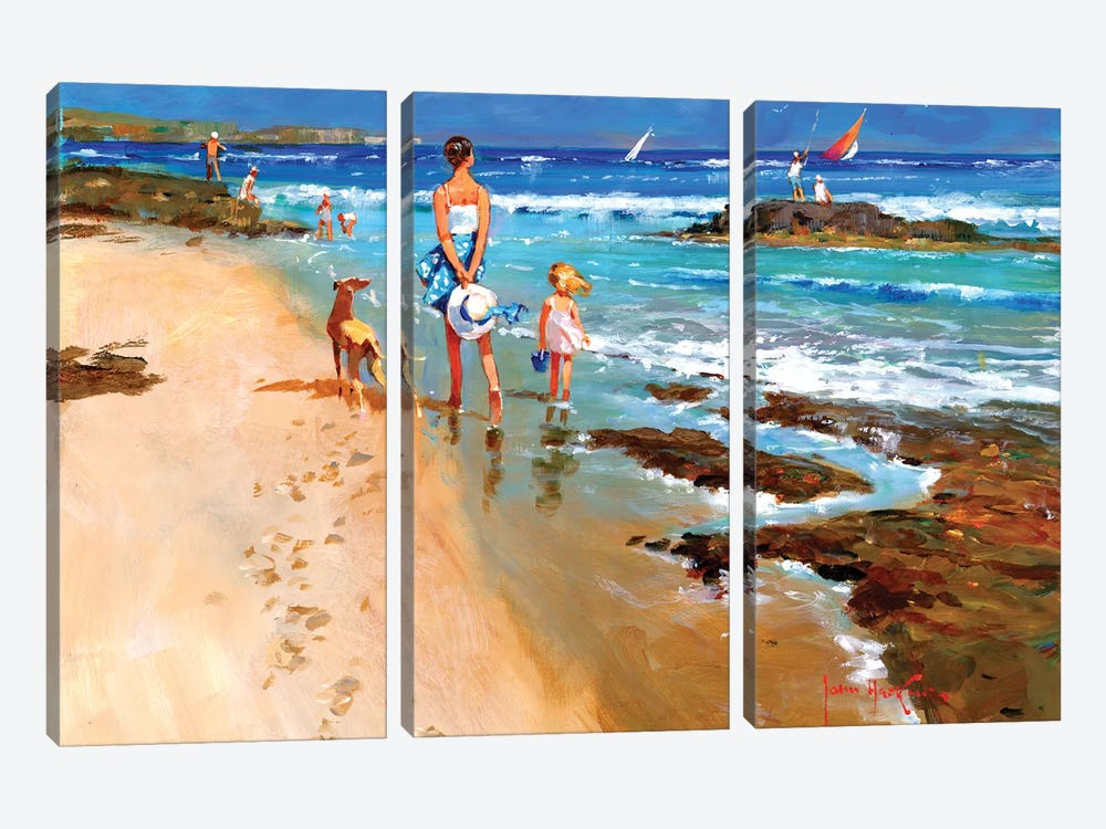 In On The Tide II by John Haskins 3-piece Canvas Print