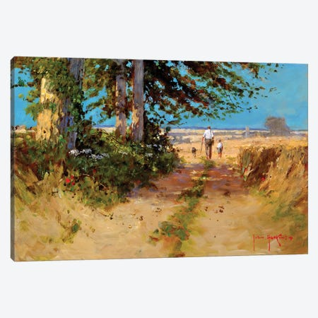 All The Way Home Canvas Print #JHS2} by John Haskins Canvas Print