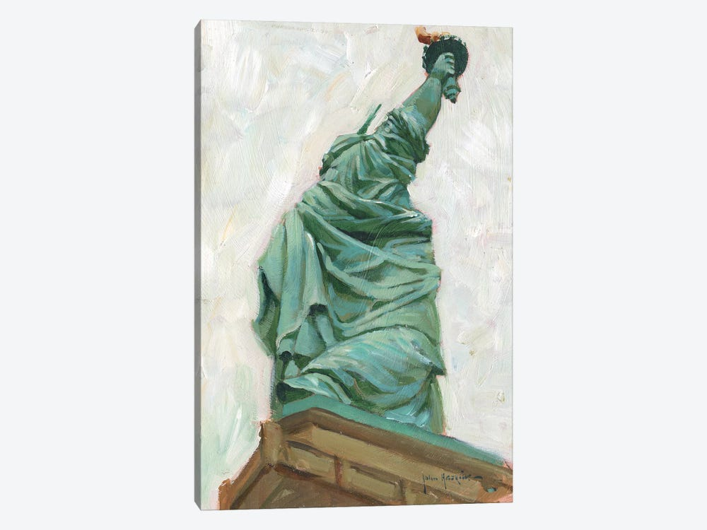 Liberty Belle by John Haskins 1-piece Canvas Art Print