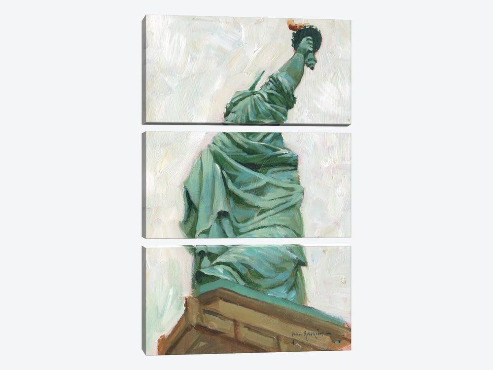 Liberty Belle by John Haskins 3-piece Canvas Art Print