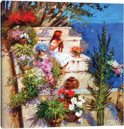 Mallorcan Terrace Canvas Art Print