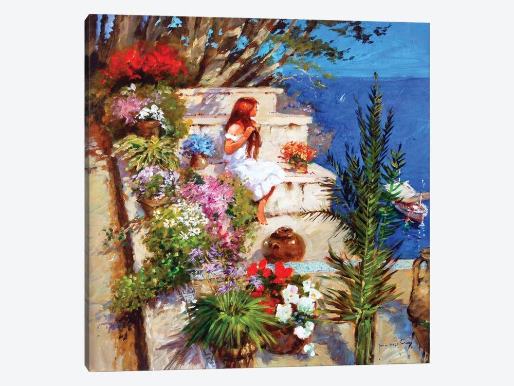 Mallorcan Terrace by John Haskins 1-piece Canvas Artwork