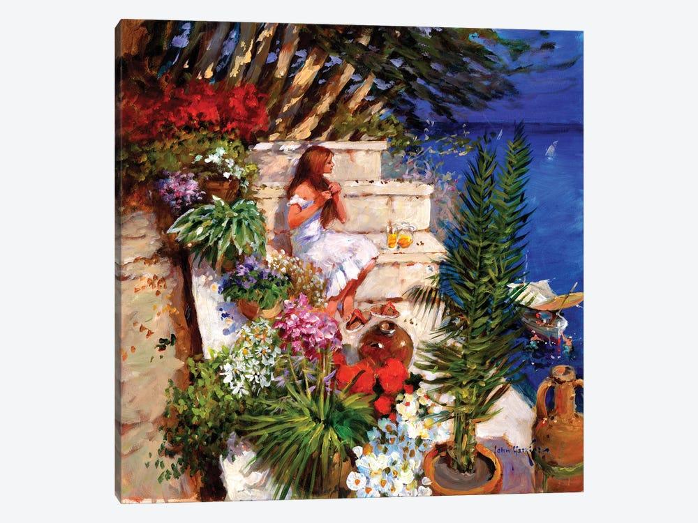 Mallorcan Terrace by John Haskins 1-piece Canvas Print