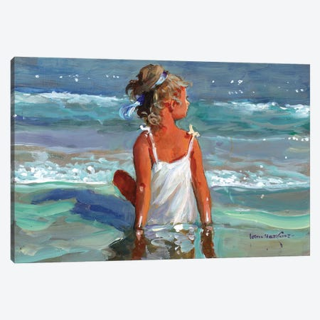 Mermaid Canvas Print #JHS36} by John Haskins Canvas Artwork