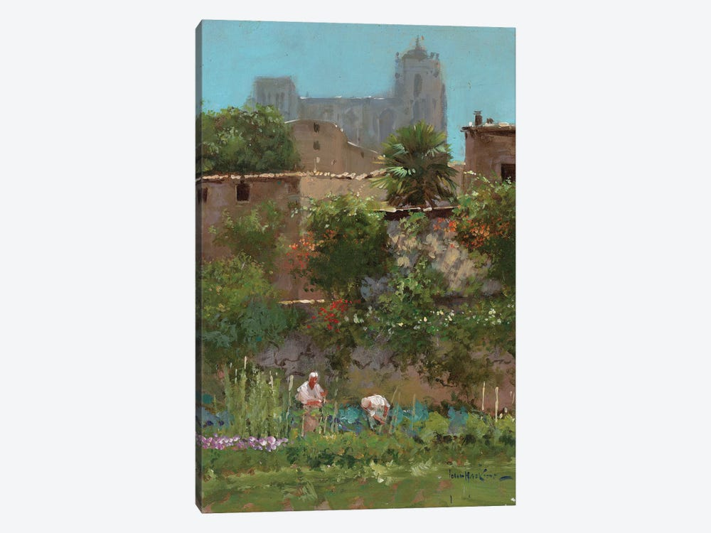 Monastery Gardens by John Haskins 1-piece Canvas Artwork
