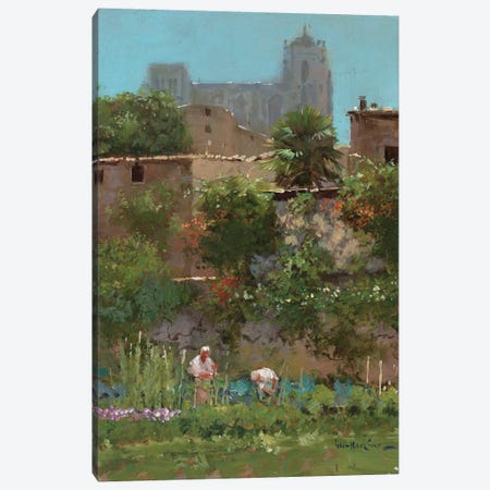Monastery Gardens Canvas Print #JHS38} by John Haskins Canvas Print