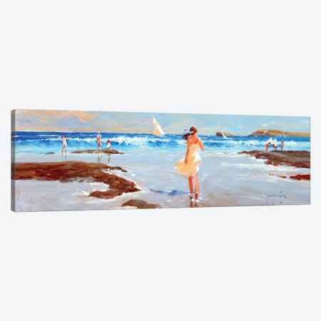 Ocean Ebb Canvas Print #JHS41} by John Haskins Canvas Artwork