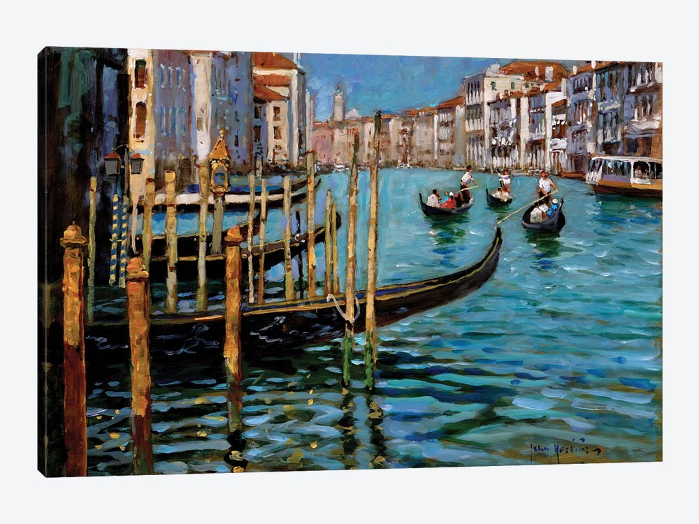 On The Gran Canal by John Haskins 1-piece Canvas Print