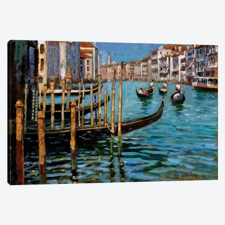 On The Gran Canal Canvas Print #JHS42} by John Haskins Canvas Art