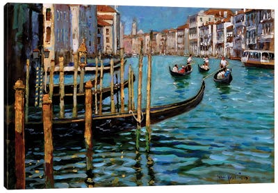 On The Gran Canal Canvas Art Print