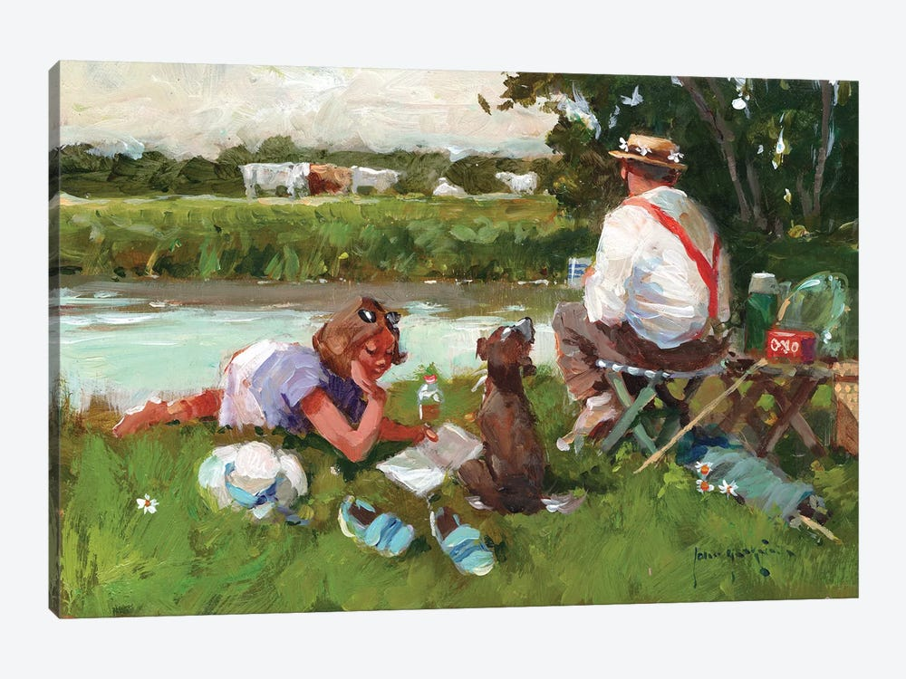 Out For The Day by John Haskins 1-piece Canvas Art Print