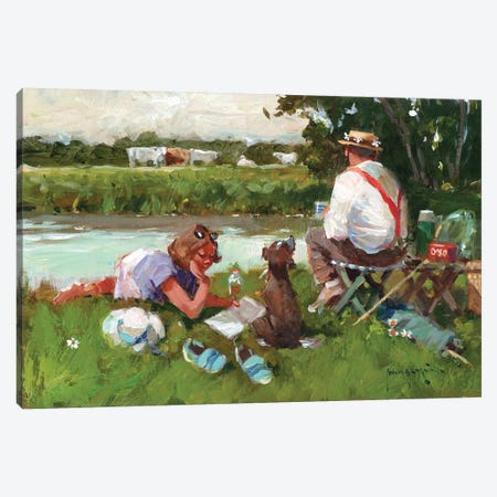 Out For The Day Canvas Print #JHS44} by John Haskins Art Print