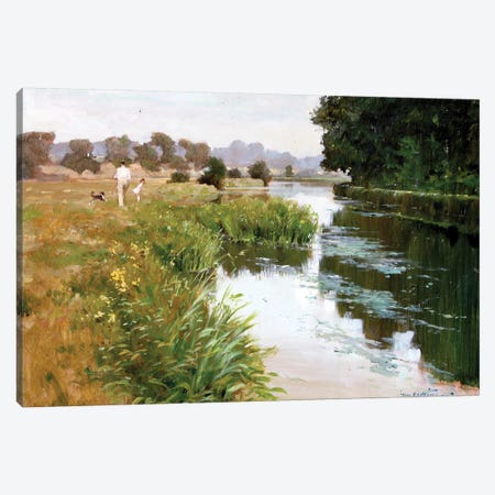 Riverside Walk Canvas Print #JHS46} by John Haskins Canvas Art Print