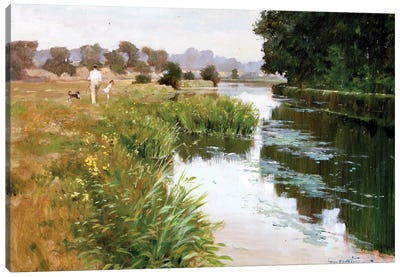 Riverside Walk Canvas Art Print