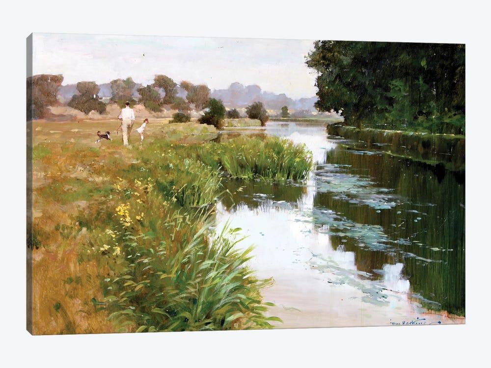 Riverside Walk by John Haskins 1-piece Art Print