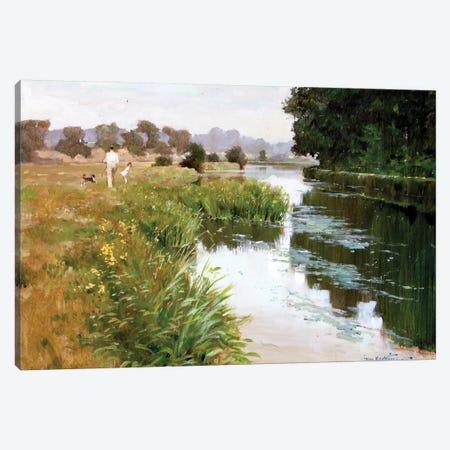 Riverside Walk Canvas Print #JHS46} by John Haskins Canvas Art Print