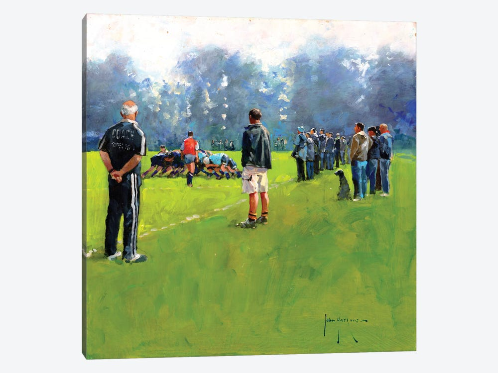 Scrum by John Haskins 1-piece Canvas Artwork