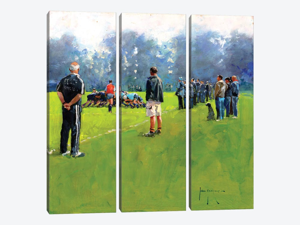 Scrum by John Haskins 3-piece Canvas Art