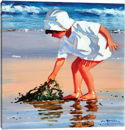 Serious About Seaweed Square Canvas Art Print