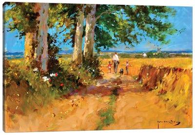 August Fields Canvas Art Print