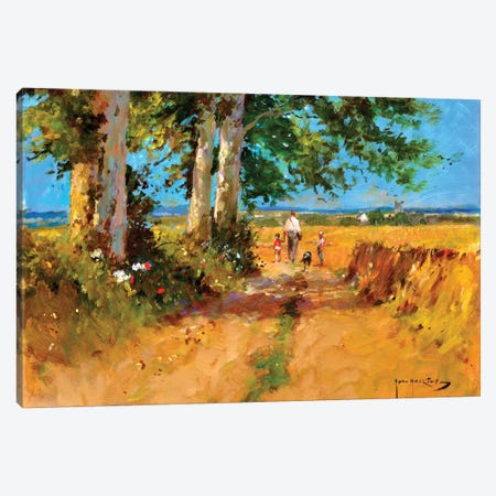 August Fields Canvas Print #JHS4} by John Haskins Canvas Artwork