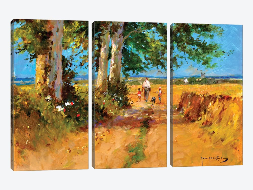 August Fields by John Haskins 3-piece Canvas Artwork