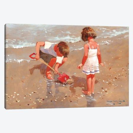 Shellseekers Canvas Print #JHS50} by John Haskins Canvas Print